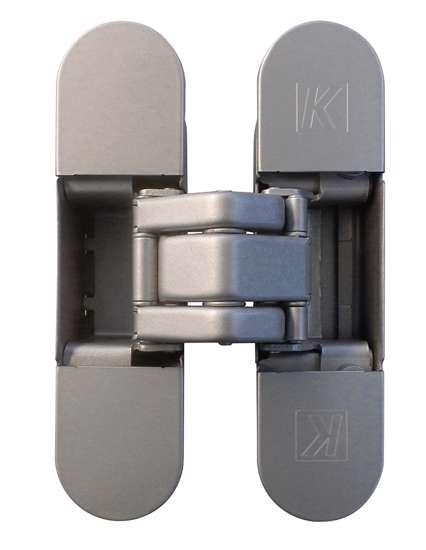 Afbeelding van Atomika K8000 verborgen scharnier, kleur mat chroom, 30 minuten brandwerend, 60kg draagvermogen