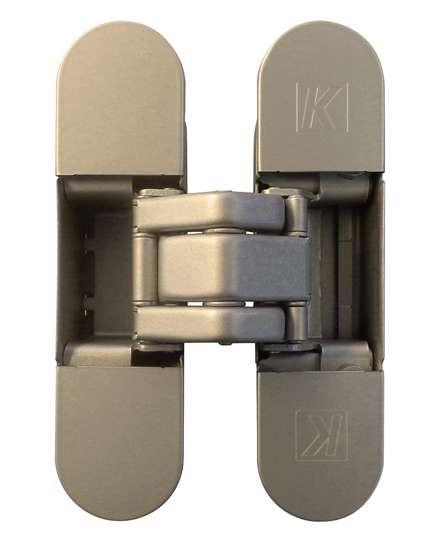 Afbeelding van Atomika K8000 verborgen scharnier, kleur mat nikkel/F2, 30 minuten brandwerend, 60kg draagvermogen
