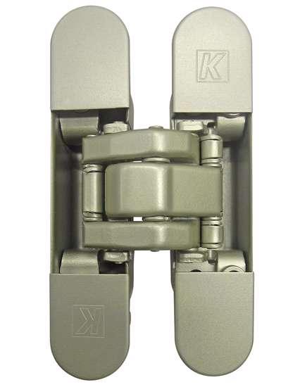 Afbeelding van Atomika Slim K8060 verborgen scharnier, kleur mat nikkel/F2, 30 minuten brandwerend, 60kg draagvermogen