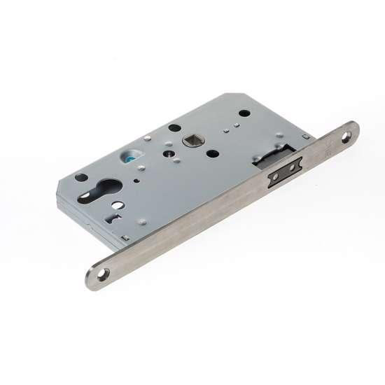 Afbeelding van Projectslot met magneetschoot loopfunctie, afgeronde voorplaat roestvaststaal afmeting 235x20x3mm, doornmaat=60mm, schoot is omkeerbaar