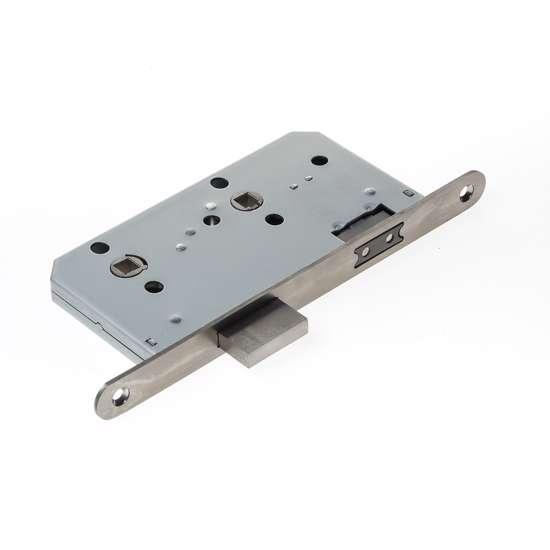 Afbeelding van Projectslot met magneetschoot vrij/bezet pc72, afgeronde voorplaat roestvaststaal afmeting 235x20x3mm, doornmaat=60mm, schoot is omkeerbaar
