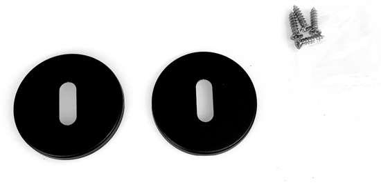Afbeelding van Sleutelrozet rond, kleur zwart, 6mm dik