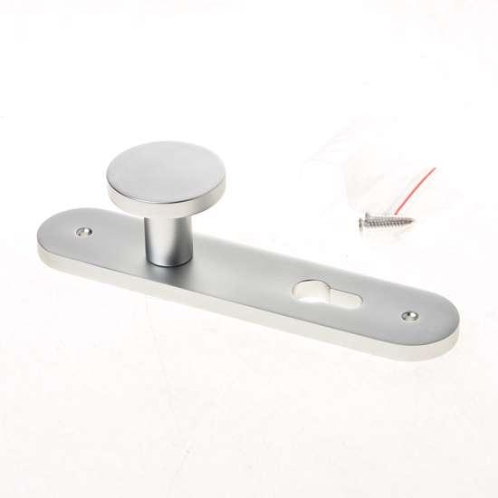 Afbeelding van Knopschild aluminium op schild 45x210mm, afgerond model PC72 45x210mm