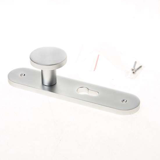 Afbeelding van Knopschild aluminium op schild 45x210mm, afgerond model PC55 45x210mm