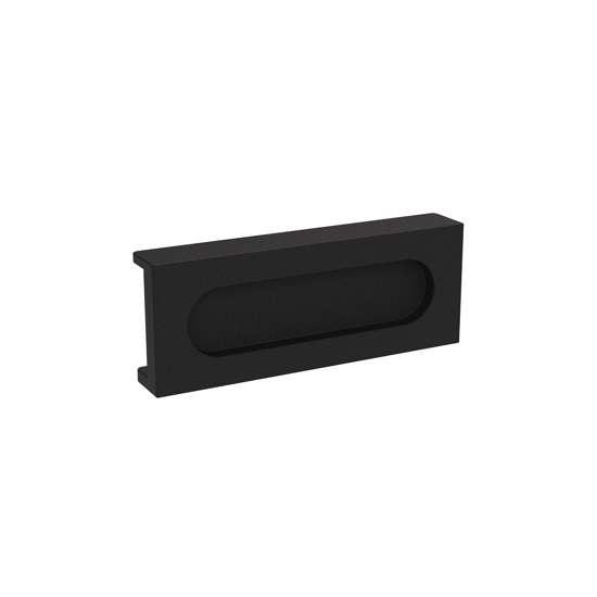 Afbeelding van Schuifdeurkom zwart, opschroevend 100x38mm tbv aluminium schuifdeur Cubo zwart.
