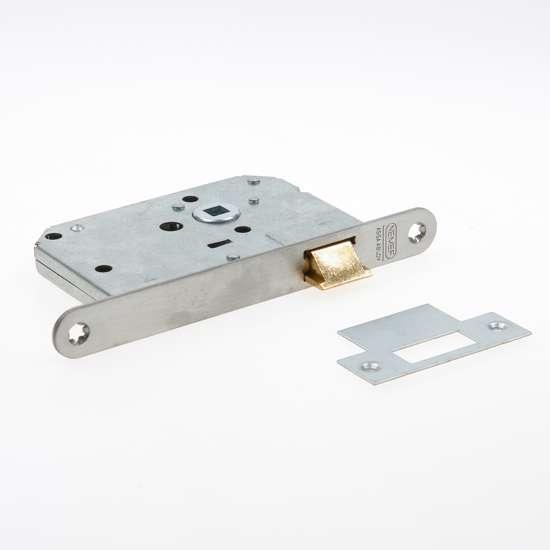 Afbeelding van Nemef Loopslot type 1255/17-50 DIN rechts RVS voorplaat