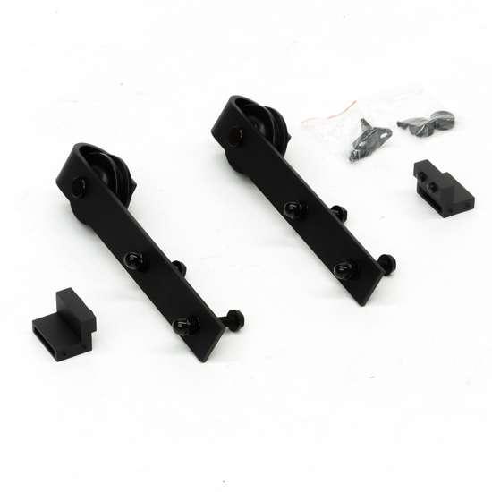 Afbeelding van Henderson Deurpakket Rustic zwart voor deuren van max. 80 kg