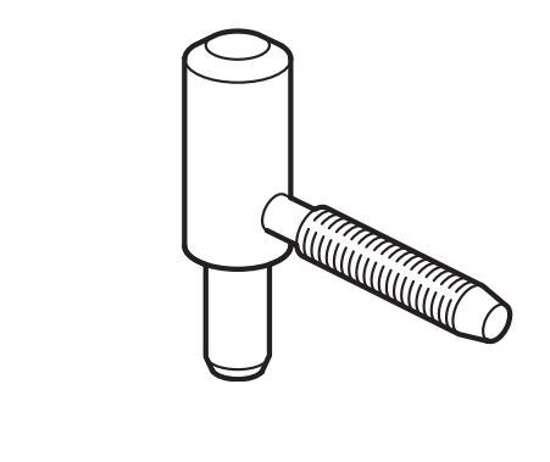 Afbeelding van Theuma bovenhelft paumelle Monoplus, voor opdek kozijnen/deuren, plaatsing deurgedeelte