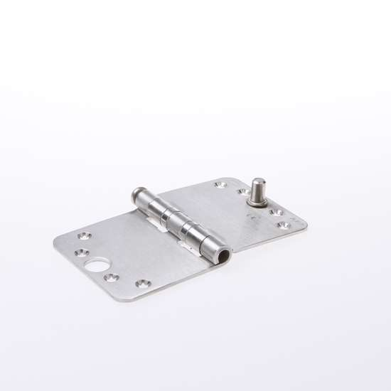 Afbeelding van Smartscharnier SL afgeronde hoek met veiligheidspen roestvaststaal    89x150mmx3