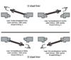 Afbeelding van kogelpaumelle dx afgeronde hoeken  roestvaststaal 89x89mmx3 din links